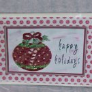"""Happy Holidays Ornament a  - 5x7"""" Greeting Card with envelope"""