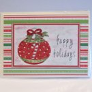 "Happy Holidays Ornament - 5x7"" Greeting Card with envelope"