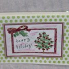 """Happy Holidays Tree - 5x7"""" Greeting Card with envelope"""