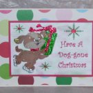 """Have A Doggone Christmas  - 5x7"""" Greeting Card with envelope"""