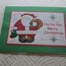 "Ho Ho Ho Merry Christmas Santa b - 5x7"" Greeting Card with envelope"