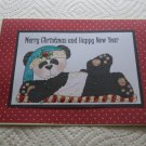 """Merry Christmas And Happy New Year Panda a - 5x7"""" Greeting Card with envelope"""