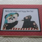 """Merry Christmas And Happy New Year Panda - 5x7"""" Greeting Card with envelope"""