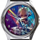 DJ Baby Groot Round Metal Watch