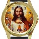 Nice Jesus Gold Metal Watch