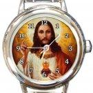 Nice Jesus Round Italian Charm Watch