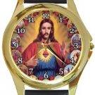 Unique Jesus Gold Metal Watch