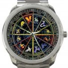 Zodiac Signs Sport Metal Watch