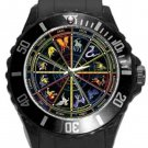 Zodiac Signs Plastic Sport Watch In Black
