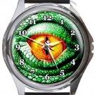 Eye Of Lizard Round Metal Watch