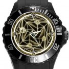 Gold Magic Circle Plastic Sport Watch In Black