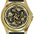 Magic Circle Gold Metal Watch