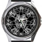 Silver Magic Circle Round Metal Watch