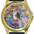 The Wheel Of Life Gold Metal Watch