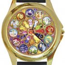 Beautiful Mandala Astrology Gold Metal Watch