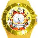 Garfield The Cat Plastic Sport Watch In Yellow