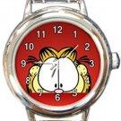 Garfield The Cat Peakaboo Round Italian Charm Watch