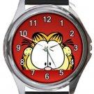 Garfield The Cat Peakaboo Round Metal Watch