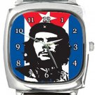 Che Guevara Revolucion Square Metal Watch