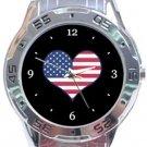 I Love USA Flag Analogue Watch