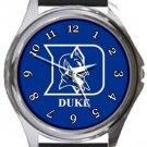 Duke University Blue Devils Round Metal Watch