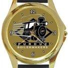 Purdue University Boilermakers Gold Metal Watch