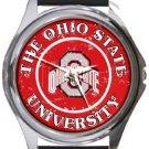 Ohio State University Round Metal Watch