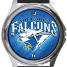 Air Force Falcons Round Metal Watch