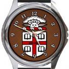 Brown University Round Metal Watch