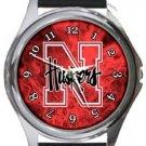 University of Nebraska Cornhuskers Round Metal Watch