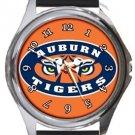 Auburn Tigers Round Metal Watch