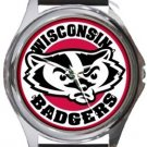 University of Wisconsin Madison Badgers Round Metal Watch