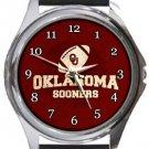 University of Oklahoma Sooners Round Metal Watch