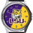 Louisiana State University LSU Round Metal Watch