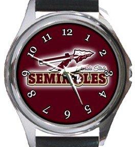 Florida State University Seminoles Round Metal Watch