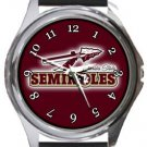 Florida State University Seminoles Round Metal Watch