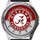 University of Alabama Crimson Tide Round Metal Watch