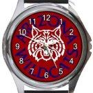 University of Arizona Wildcats Round Metal Watch