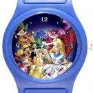 Alice In Wonderland Blue Plastic Watch