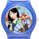 Mulan Blue Plastic Watch