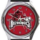 The University of Arkansas Razorbacks Round Metal Watch