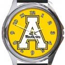 Appalachian State University Mountaineers Round Metal Watch