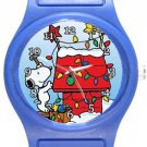 Snoopy Light Up For Christmas Blue Plastic Watch
