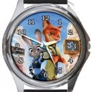 Zootopia Round Metal Watch