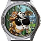 Kung Fu Panda Round Metal Watch