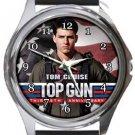 Tom Cruise Top Gun Round Metal Watch