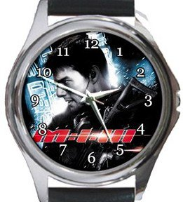 Tom Cruise Mission Impossible Round Metal Watch