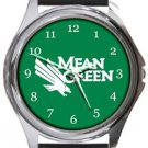 University of North Texas Mean Green Round Metal Watch