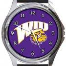 Western Illinois WIU Leathernecks Round Metal Watch