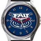 Florida Atlantic University Owls Round Metal Watch